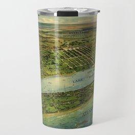 Panoramic view of West Palm Beach, North Palm Beach and Lake Worth, Florida (1915) Travel Mug