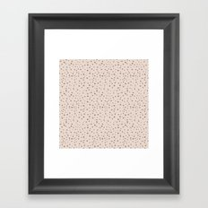 PolkaDots-Taupe on Peach Framed Art Print