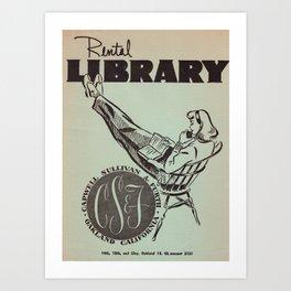 Vintage Rental Library Art Print