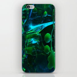 Blue and Green iPhone Skin
