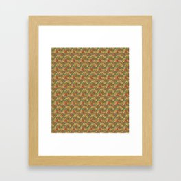 Elegant Pattern (Intertwining Leaves) Framed Art Print