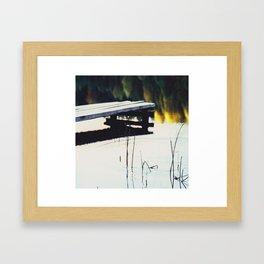 Autumn Lake, Color Film Photo, Analog Framed Art Print