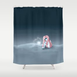I'm all alone in a world that seems so dark Shower Curtain