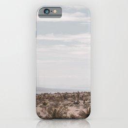 Blue Mountain Mojave // Vintage Desert Landscape Cactus Plants Nature Scenery Photograph Decor iPhone Case