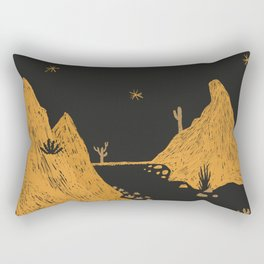 Desert Landscape Rectangular Pillow
