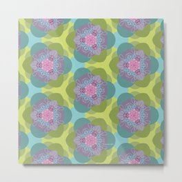 Springflower-Kaleidoscope Metal Print