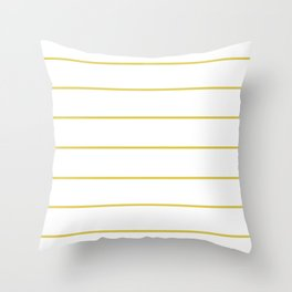 THIN MUSTARD STRIPE Throw Pillow
