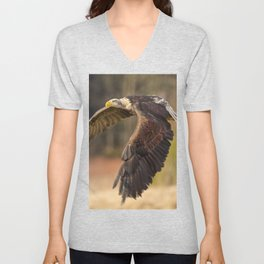 Bald Eagle in Flight Unisex V-Neck