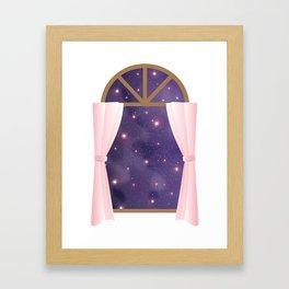 Universe from Window Framed Art Print