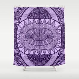 Grape Tangled Mania Pattern Doodle Design Shower Curtain