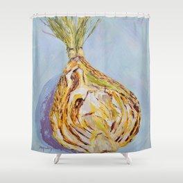 Half of a fennel bulb Shower Curtain