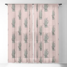 The Palmistry Hand Sheer Curtain