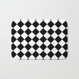 Contemporary Black & White Gingham Pattern - Mix and Match Bath Mat