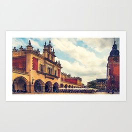 Cracow Main Square Old Town Art Print