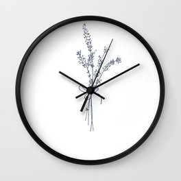 Lovely Lavender Bunch Wall Clock