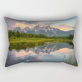Wallpaper USA Grand Teton Nature Mountains Lake Parks landscape photography mountain park Scenery Rectangular Pillow
