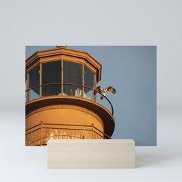 Osprey on the Lighthouse Mini Art Print