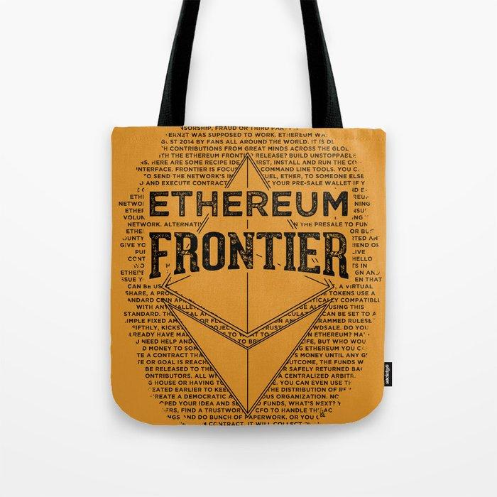 Ethereum Frontier (black on orange) Tote Bag