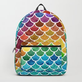 Vibrant Rainbow Scales Backpack