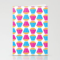 cupcakes Stationery Cards featuring Cupcakes by Apple Kaur