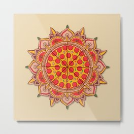Sacred Pizza Metal Print