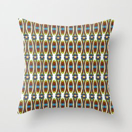 Stretched String Beads Throw Pillow