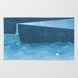 Lighthouse illustration Rug
