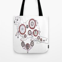 ferret Tote Bags featuring DreamWarden - Ferret by RekaCryistall