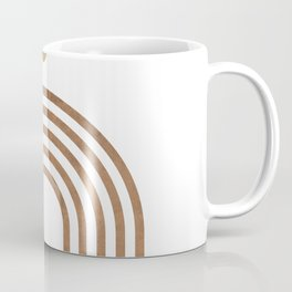 Transitions - White 01 - Minimal Geometric Abstract Coffee Mug