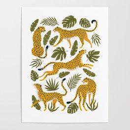 Leopard pattern Poster
