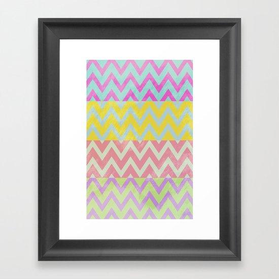 Chevron Summer Framed Art Print