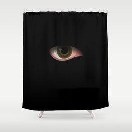 Eye in Black Shower Curtain