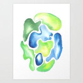 170623 Colour Shapes Watercolor 5| Abstract Shapes Drawing | Abstract Shapes Art Art Print