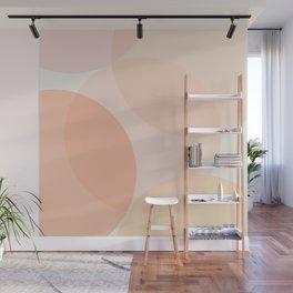 Minimal Circles Abstract - Warmth Wall Mural