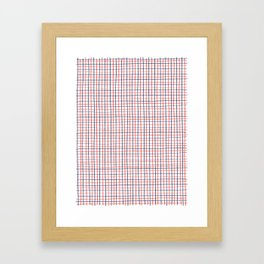 French Grid Framed Art Print