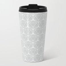 Icosahedron Soft Grey Metal Travel Mug