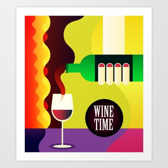 WineTime Art Print