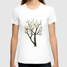 WHITE TREE Womens Fitted Tee White LARGE