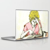les mis Laptop & iPad Skins featuring Enjolras studying Les Mis by Pruoviare