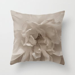 Sepia White Rose Throw Pillow