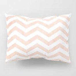 Coral Stripes zig-zag Pillow Sham
