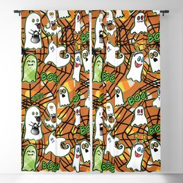 Halloween Ghosts Boo! Trick or Treat by Beebus Marble Blackout Curtain