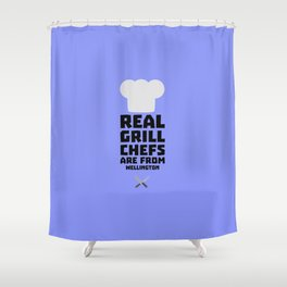 Real Grill Chefs are from Wellington D2ocq Shower Curtain