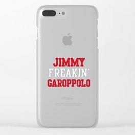 Jimmy Freakin' Garoppolo Clear iPhone Case