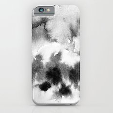MINIMAL BLACK AND WHITE SPLATTER PATTERN Slim Case iPhone 6s
