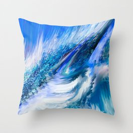 Rapture In Blue   Abstract Throw Pillow