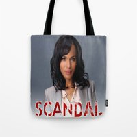 scandal Tote Bags featuring SCANDAL by I Love Decor