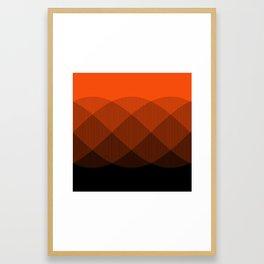 Orange to Black Ombre Signal Framed Art Print