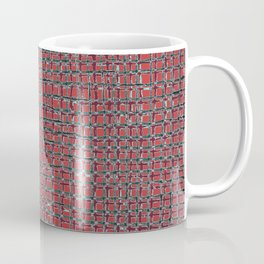 Left - Red and turquoise Coffee Mug