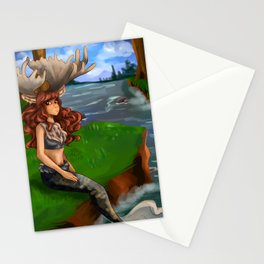 Moose Mermaid Stationery Cards